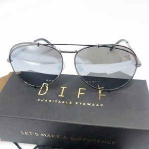 DIFF Eyewear Koko Aviator 63mm Gunmetal Sunglasses